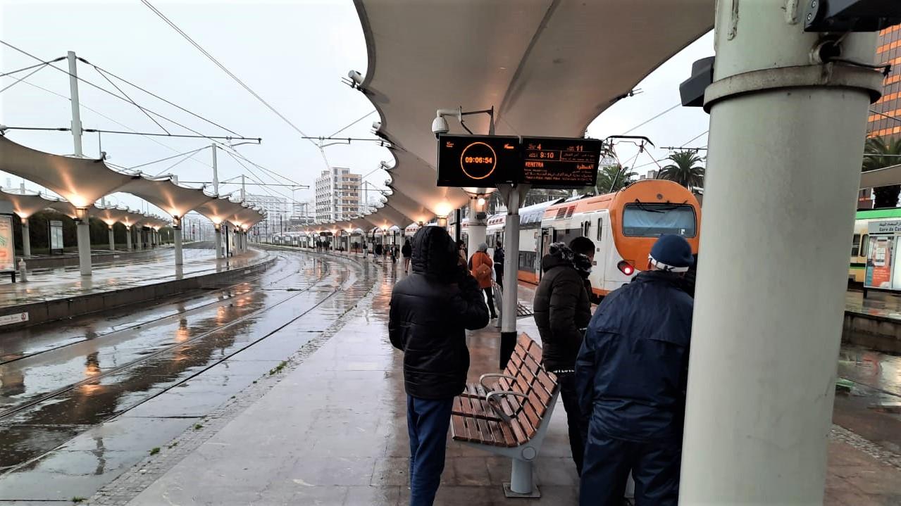 Axe Casa-Rabat : les fortes pluies paralysent le trafic ferroviaire