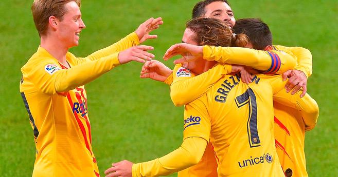 Liga : Le Barça remonte sur le podium après sa victoire à Bilbao