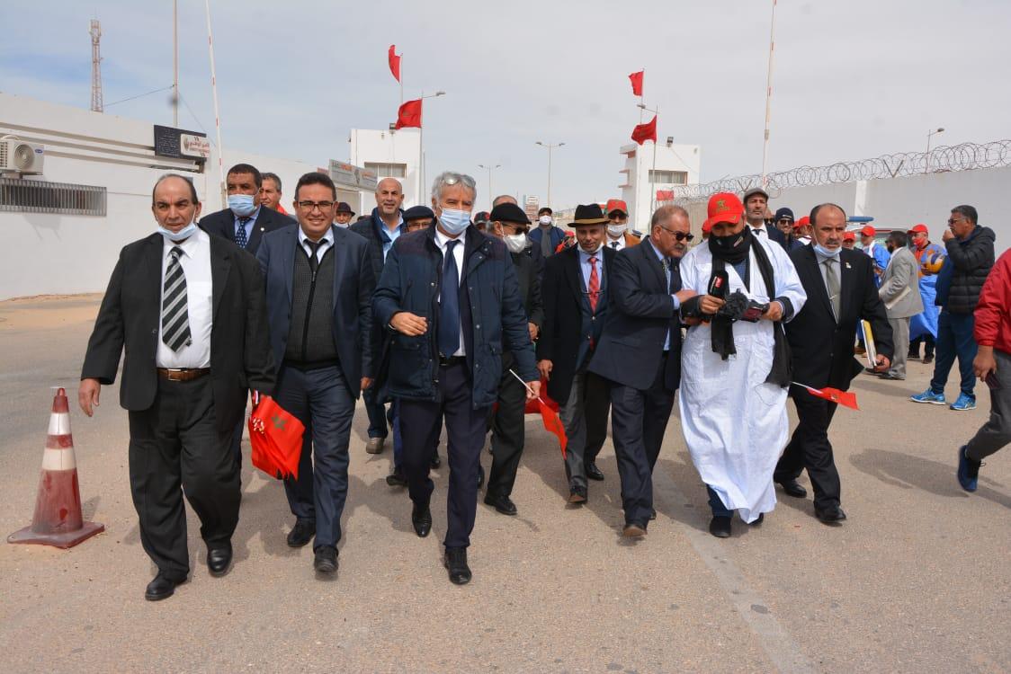Des images de la visite à El Guergarate des présidents et représentants des Fédérations Royales sportives