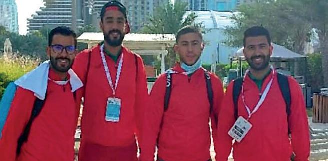 L'équipe nationale sur le sable de Dubaï.