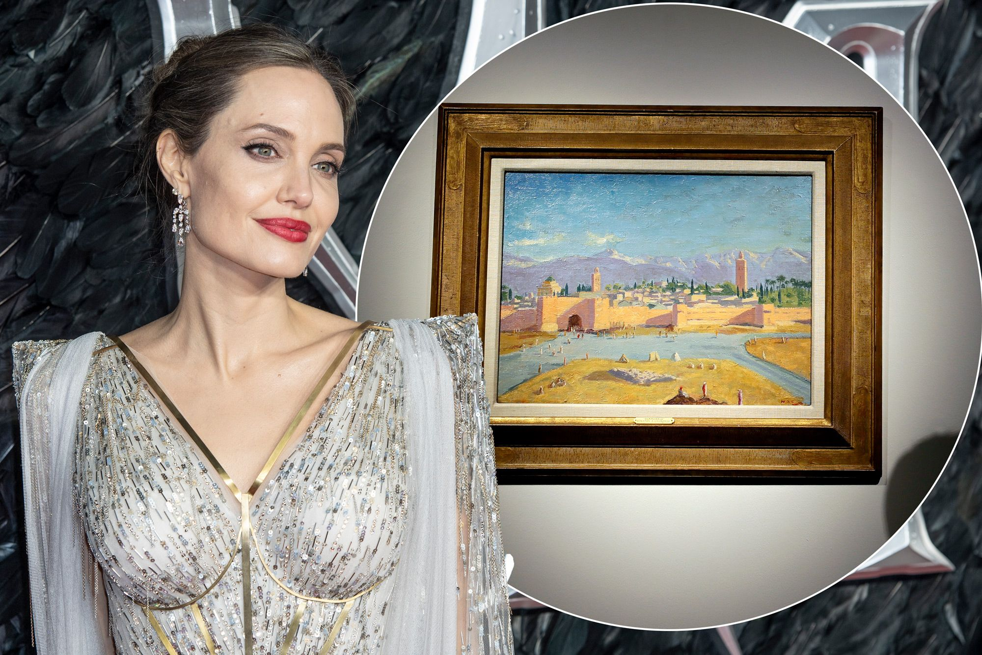 Angelina Jolie vend un tableau de Winston Churchill illustrant Marrakech