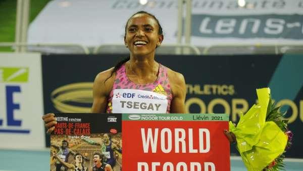 Athlétisme: L'Éthiopienne Tsegay bat le record du monde du 1500 m en salle