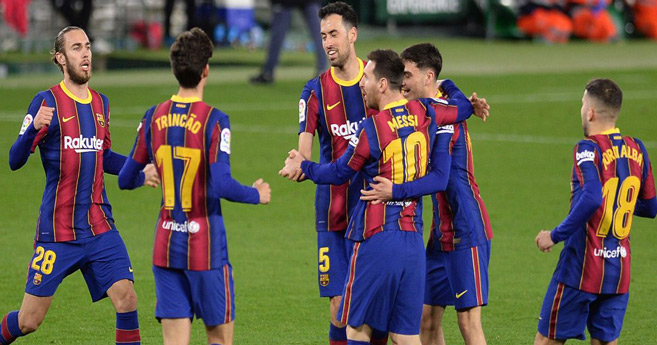 Liga : Barcelone s'impose chez le Betis avec un super Messi