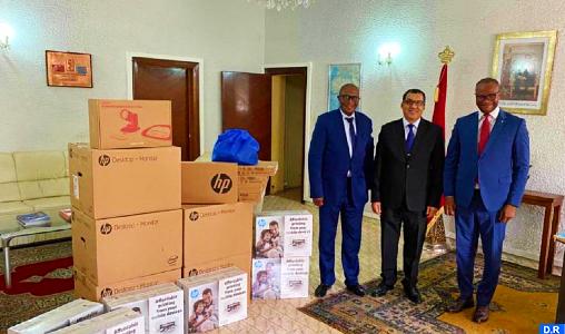 Le Maroc fait don de matériel informatique au profit de la task force du ministère des Affaires étrangères de la RDC
