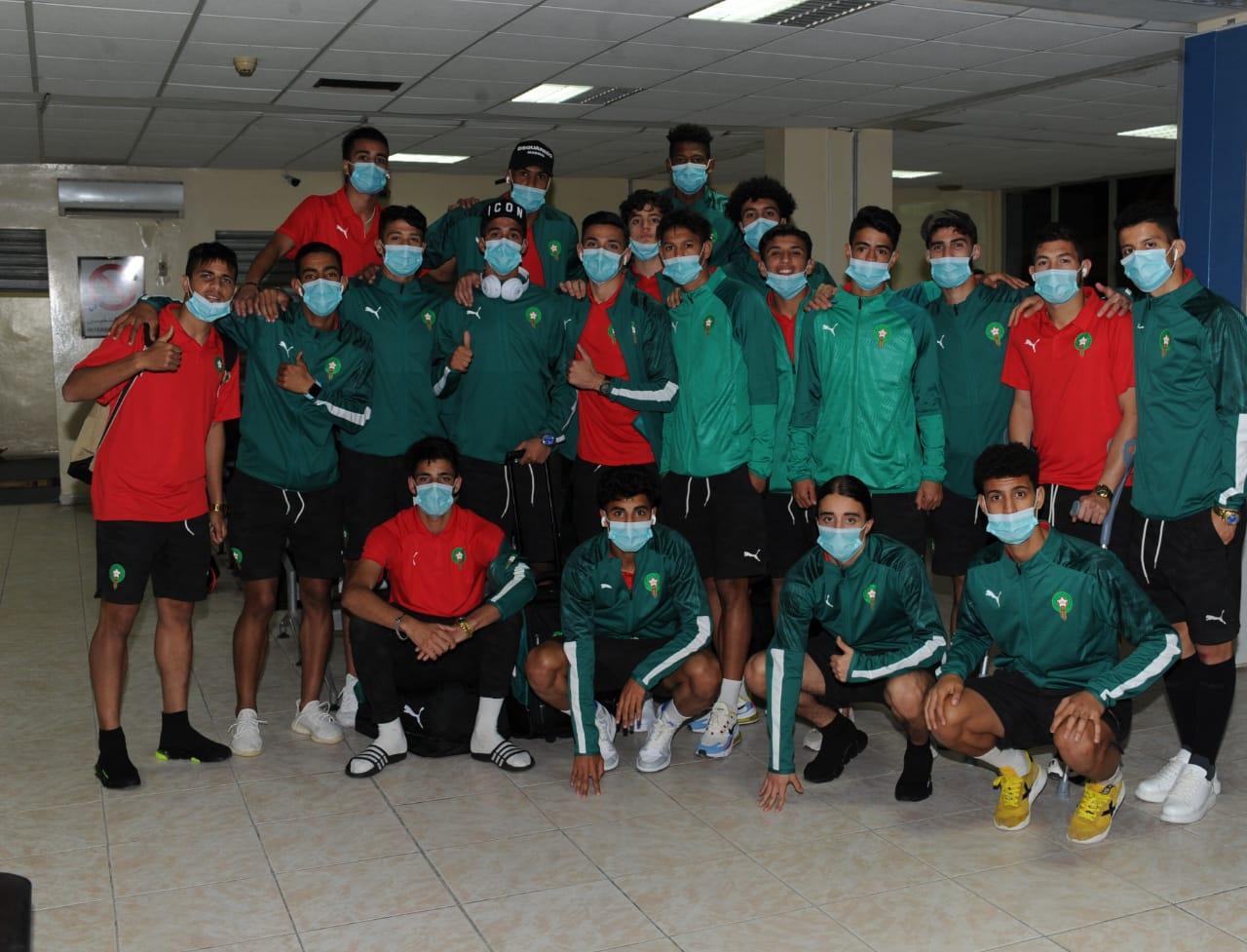 La délégation officielle de la sélection nationale U20 est arrivée ce vendredi 12 février 2021 à l'Aéroport international de Nouadhibou en Mauritanie