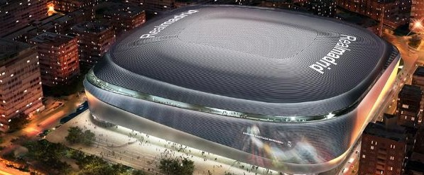 Inauguration en octobre 2022 : Coût global de la réforme du stade Bernabeu 800 millions euros