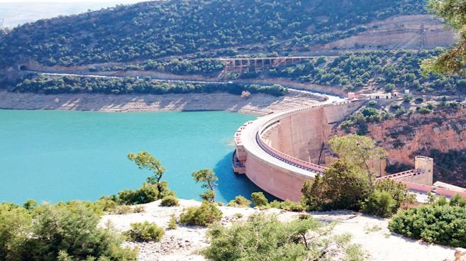 Barrage Bin el Ouidane, situé dans la province d'Azilal.