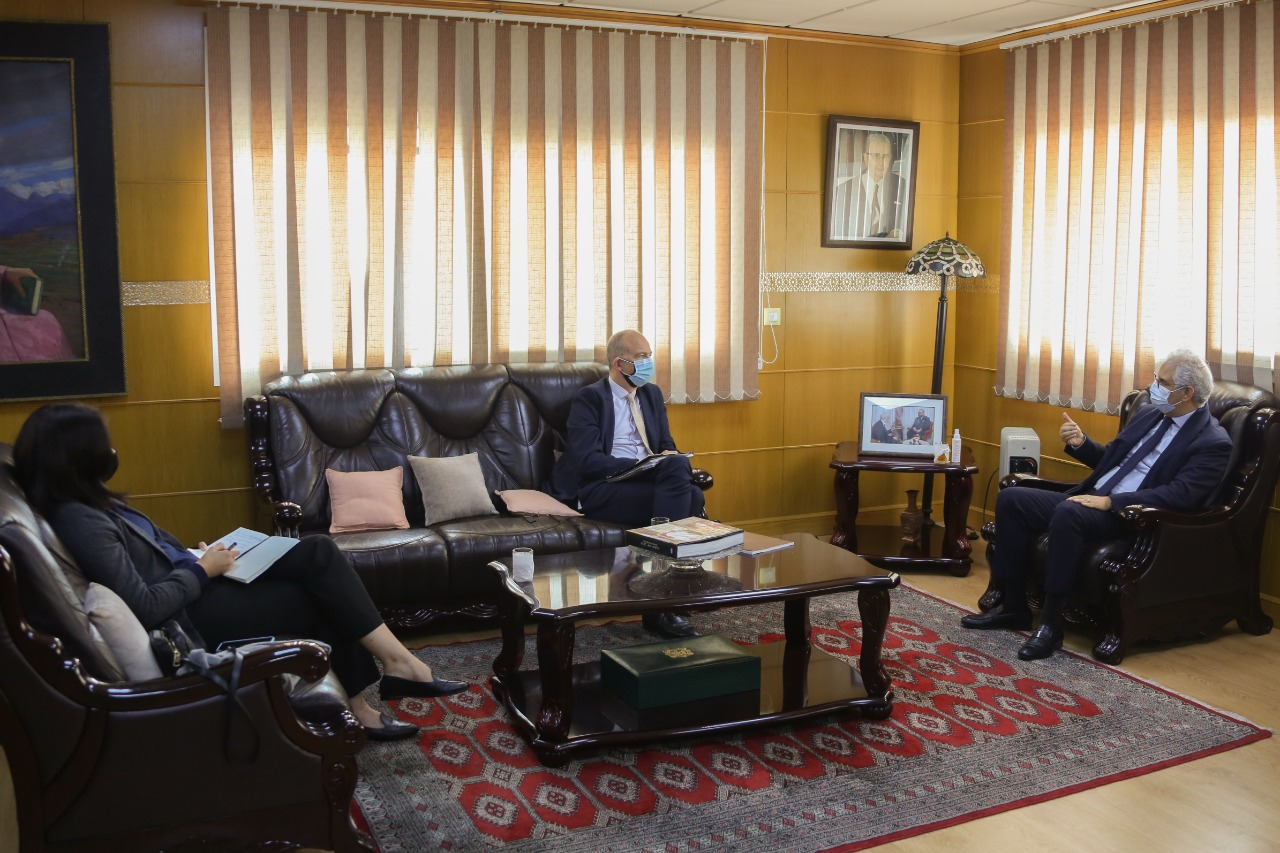 Nizar Baraka s'entretient avec le Directeur de la Banque Mondiale au Maghreb