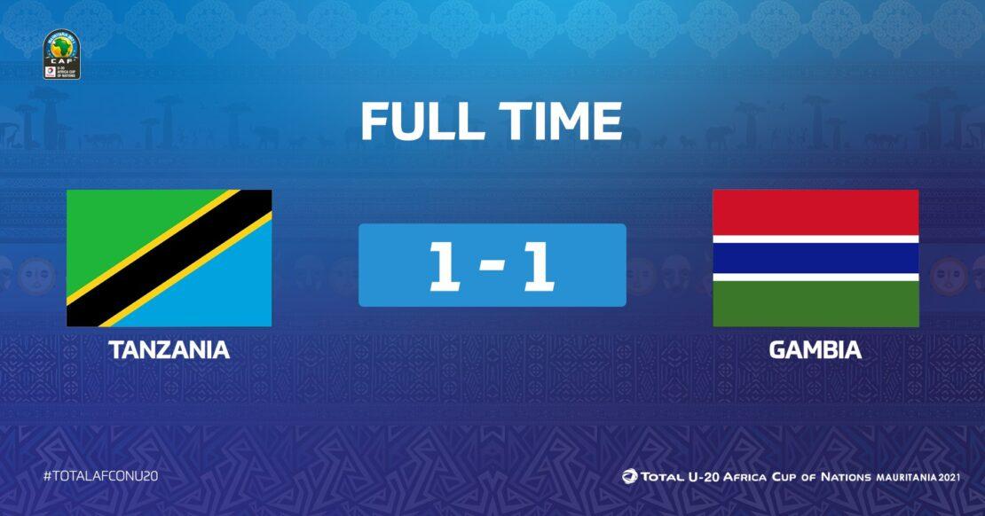 CAN U20 / Tanzanie-Gambie (1-1) : Un nul désavantageant les deux parties !