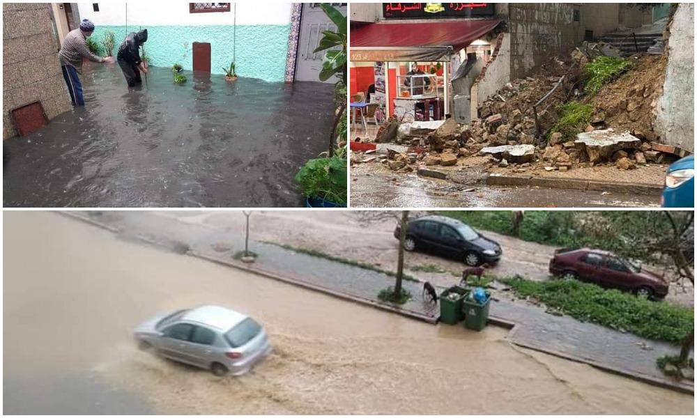Après Tanger, la ville de Tétouan noyée par des pluies torrentielles (Vidéos)