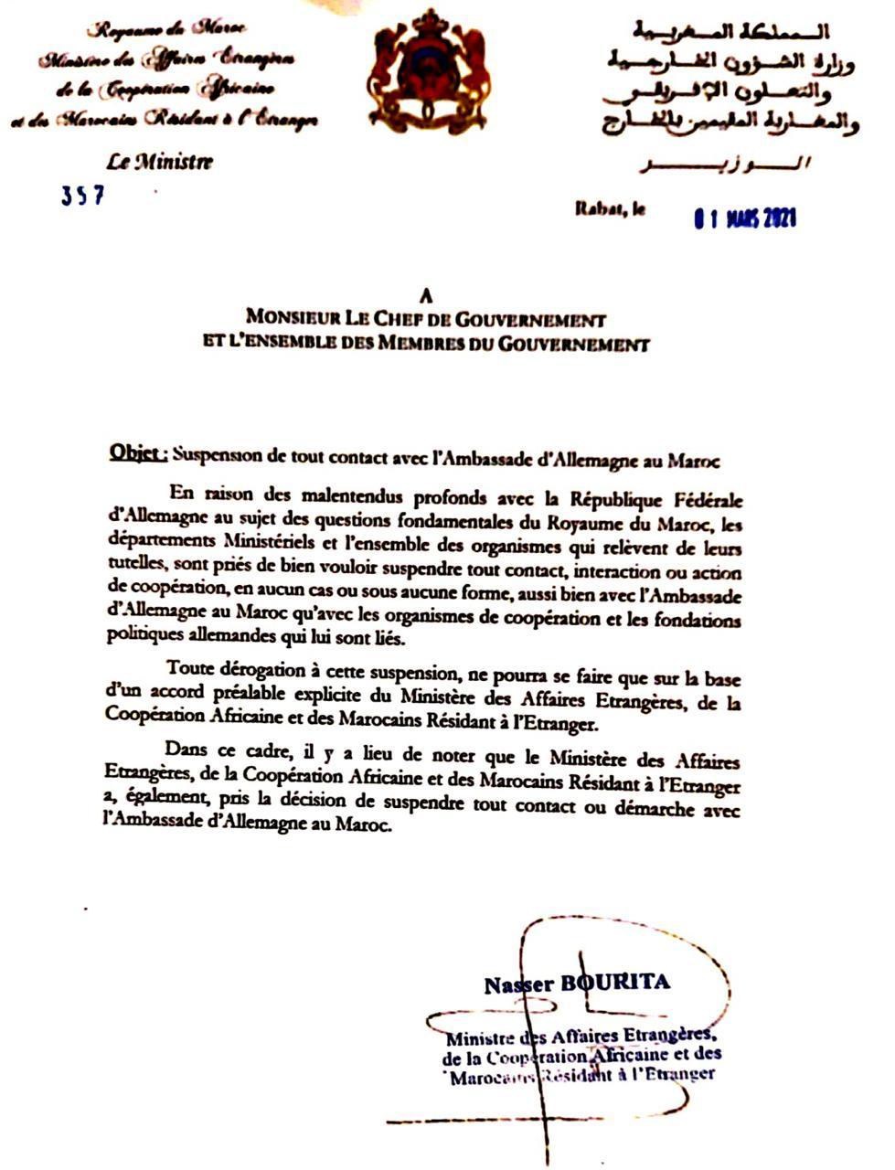 Le Maroc blackliste l'ambassade d'Allemagne à Rabat