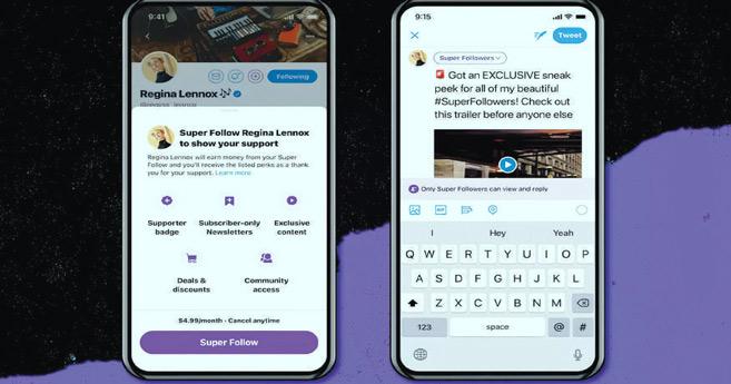 Le « Super Follow » : Une nouvelle source de revenu sur Twitter