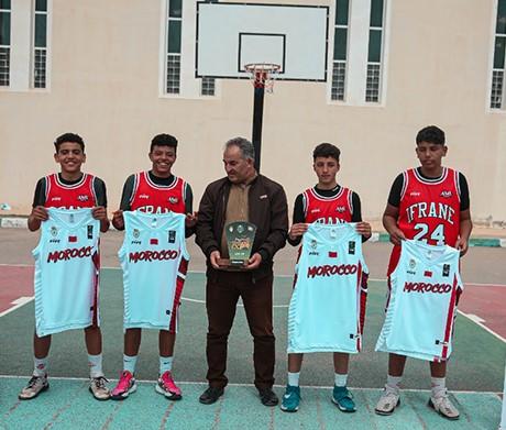 L'équipe Michlifen Ifrane remporte le 1er tournoi national de basketball 3x3