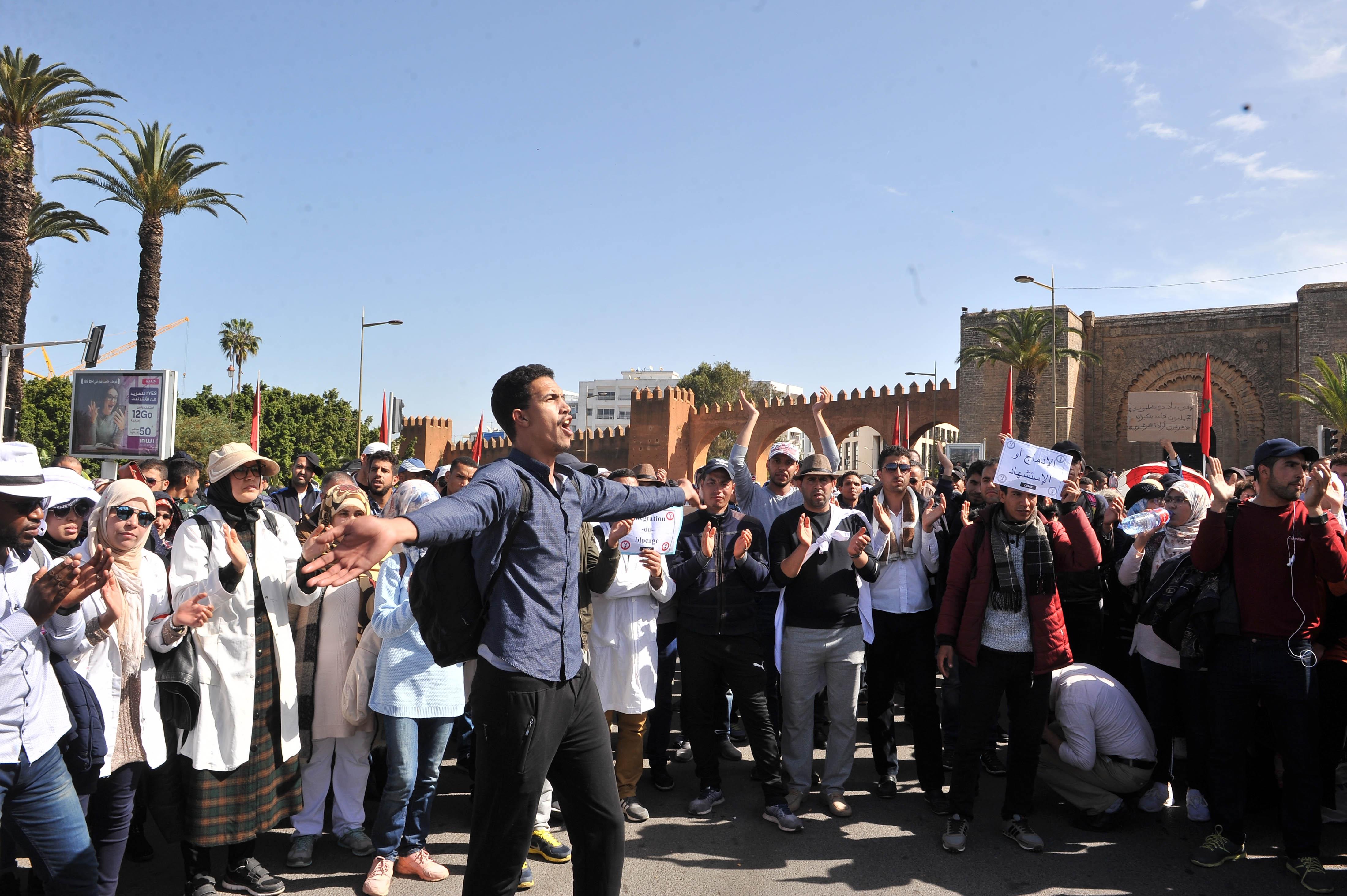Rabat: Les «contractuels» défient l'interdiction des rassemblements