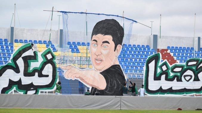 """DHJ / Visite d'une faction des supporters aux joueurs avec un tiffo en 3D : """"Vous avez notre confiance"""""""