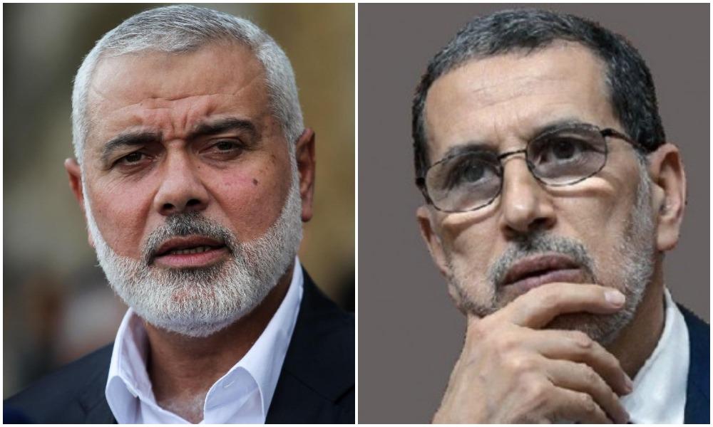 El Othmani discute de la situation en Palestine avec le chef du Hamas