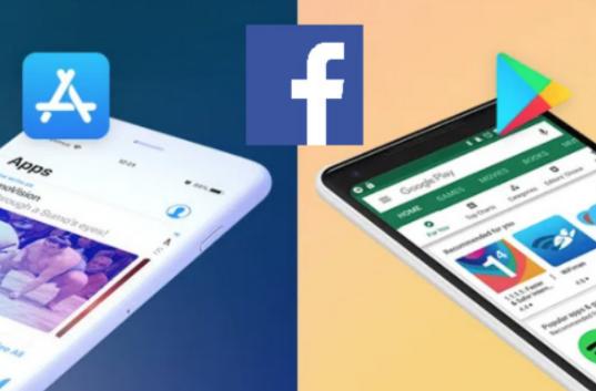 Facebook: Chute libre de la note sur App store et Play store