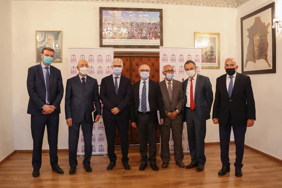 Nizar Baraka reçoit Chakib Benmoussa, président de la CSMD