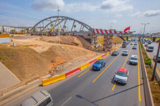 Casablanca-Tramway : Mise en place d'un pont bow-string dédié à la ligne T4