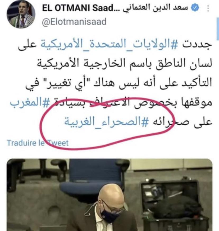 El Othmani suscite encore une fois la polémique avec un tweet