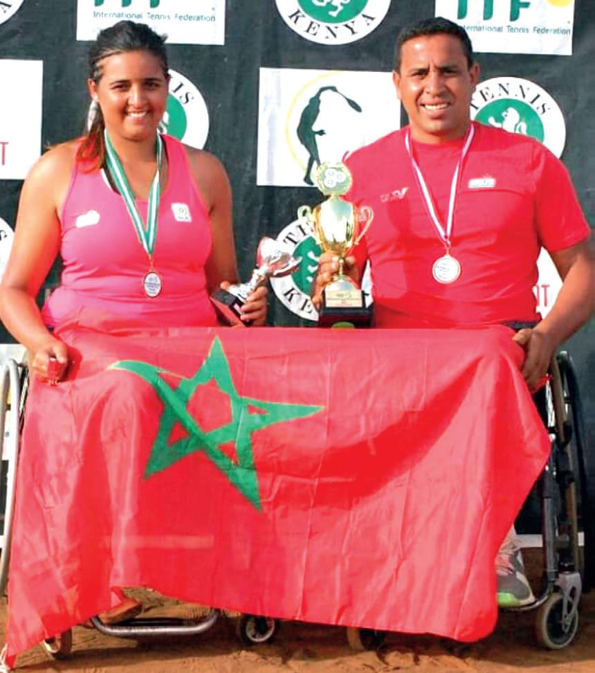 Najwa Awane et Lhaj Boukartacha aux J.O.