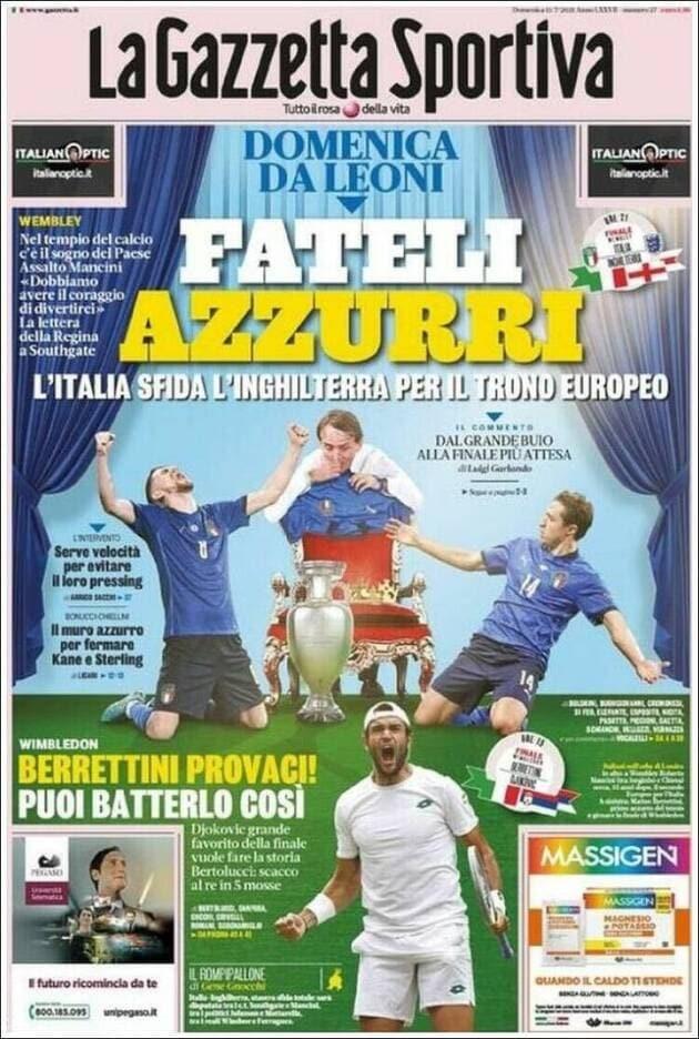 Finale de l'Euro : La presse italienne en ébullition