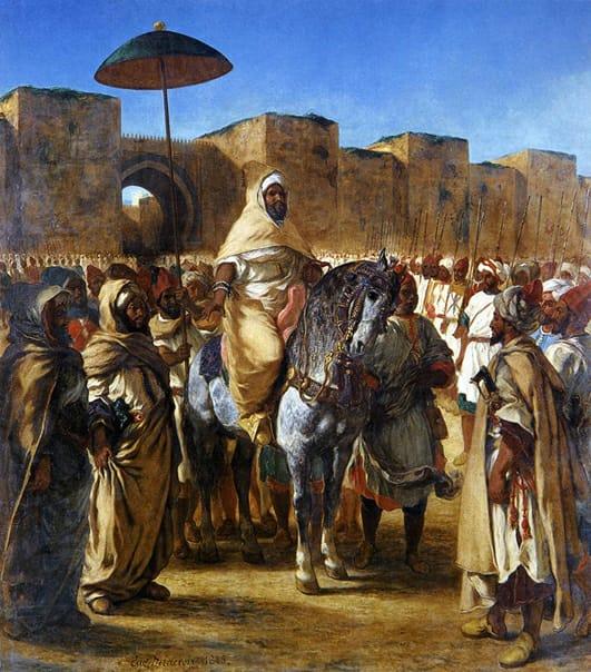 Moulay Abderrahmane, sultan du Maroc, 1845, huile sur toile, 340x377 cm, Eugène Delacroix, musée des Augustins, Toulouse, France