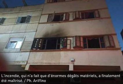 Nador : Une famille sauvée d'un incendie grâce aux voisins