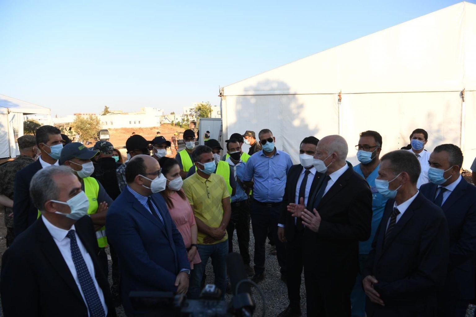 Hassan Tariq au président tunisien : Les travaux de construction de l'hôpital de campagne marocain avancent à bon rythme