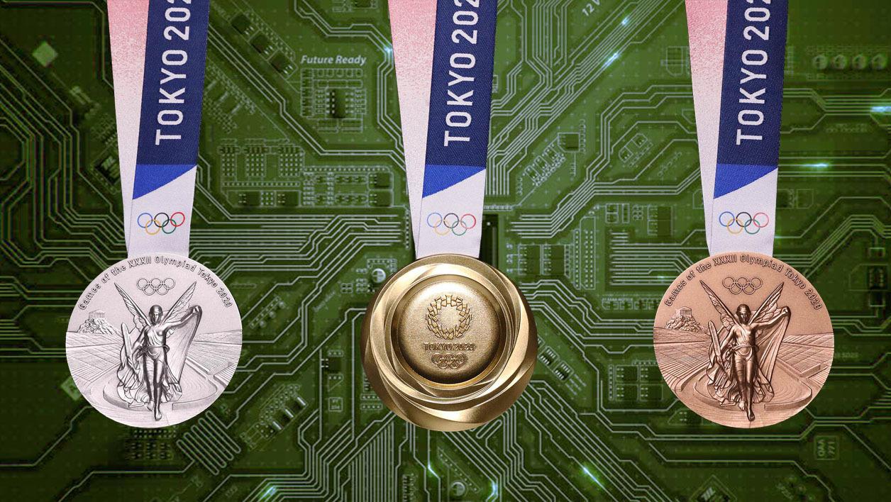 JO Tokyo : Des médailles recyclées à partir de téléphones portables récupérés !