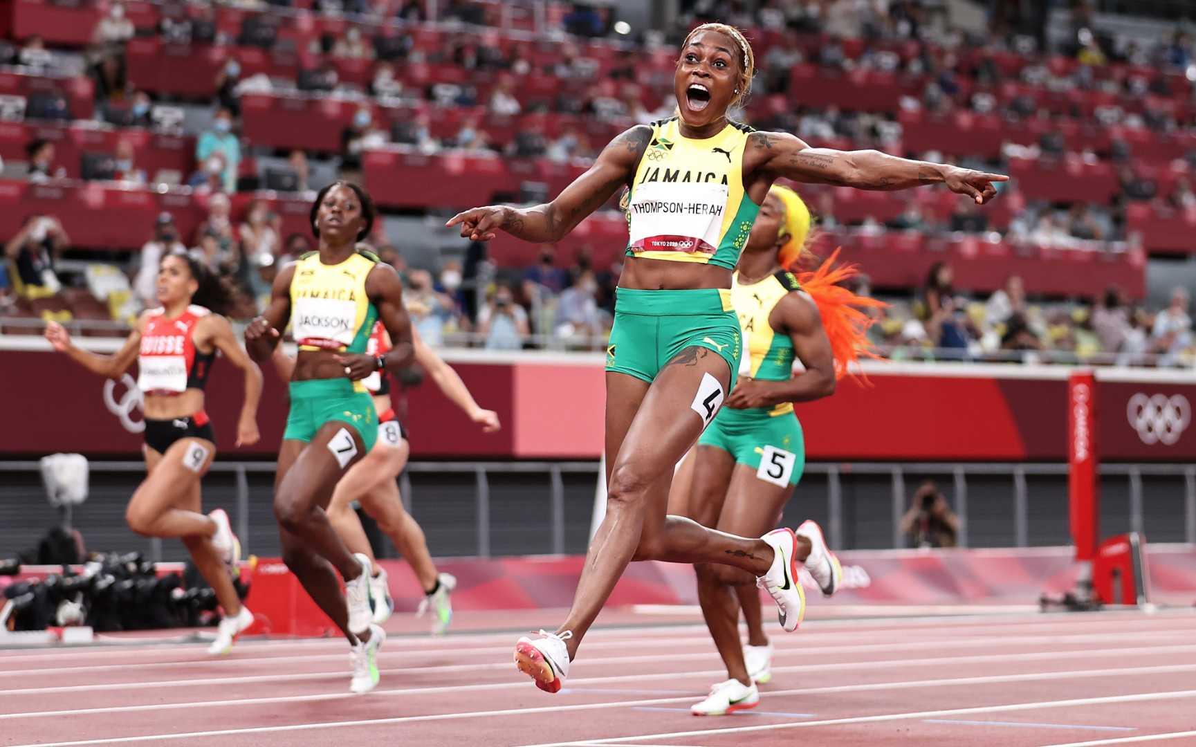Tokyo 2020 : Elaine Thompson (Jamaïque) 100 m féminin : 10 s 61 à 0,62 s du record mondial