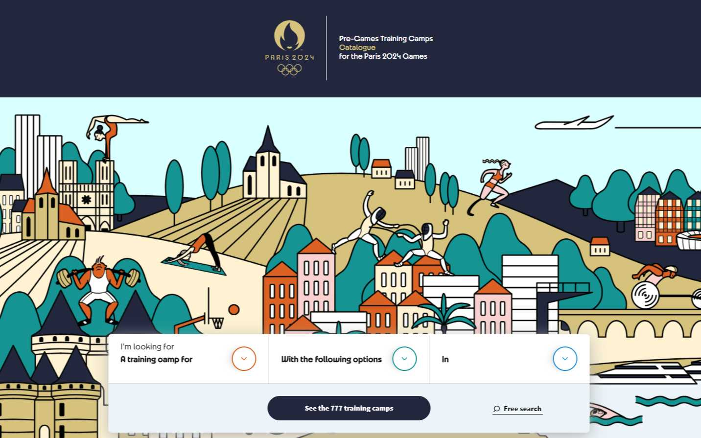 Site internet des Jeux Olympiques Paris 2024