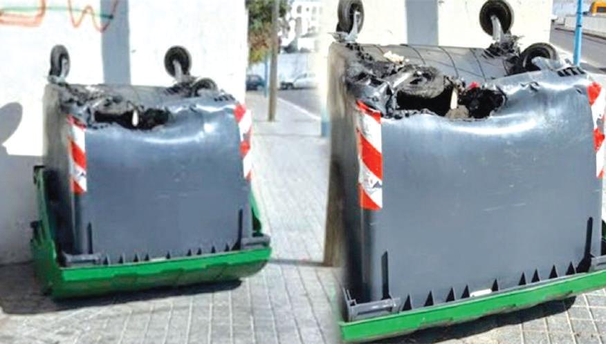 Vandalisme : Des containers incendiés à Sidi Moumen