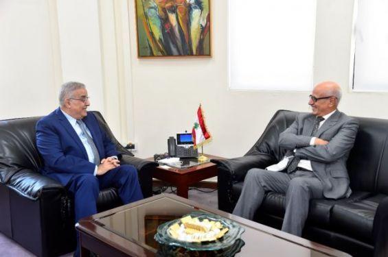 Liban : Le nouveau ministre libanais des AE s'entretient avec l'ambassadeur du Maroc à Beyrouth