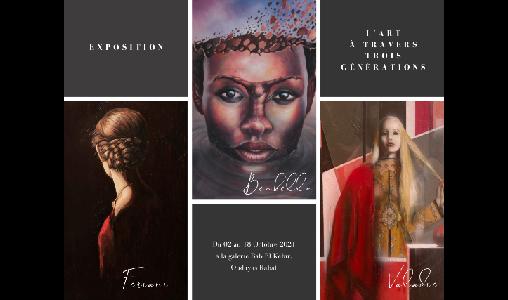 """Exposition """"L'Art à travers trois générations"""", du 2 au 18 octobre à Rabat"""