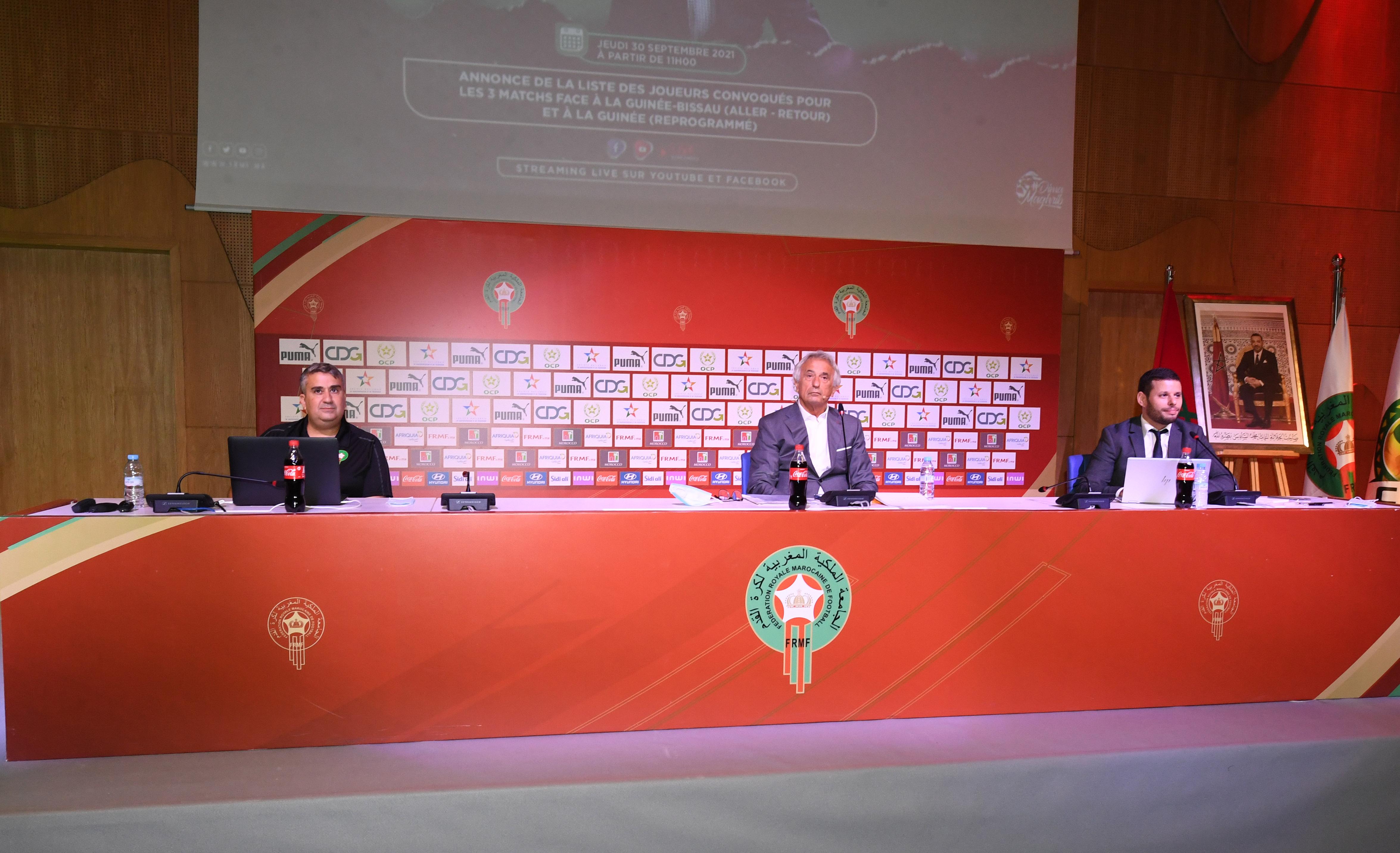 Conférence de presse de Vahid Halilhodzic : ''Je suis l'unique responsable de la liste des joueurs convoqués !''