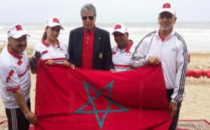 Hamidouch au milieu de Khalid Labied, Abdelhak Achik et Noureddine Bouyahyaoui.