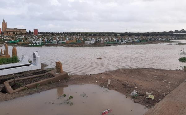 Le Cimetière Al Ghofrane «profané» par les pluies