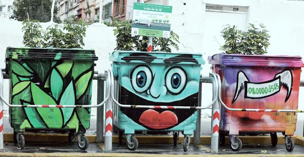 Casablanca : Le street art s'invite à des bennes à ordures