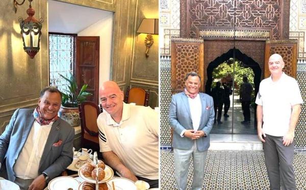 Gianni Infantino, président de la FIFA, visite le musée Dar El Bacha de Marrakech