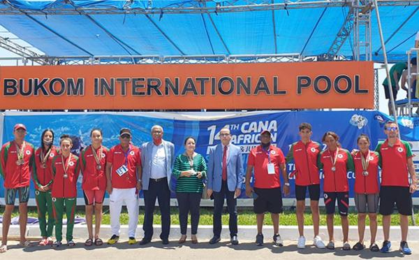 Championnat d'Afrique de natation : Le Maroc récolte 10 médailles et finit 3ème
